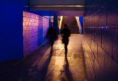 underpass, 2 (lesbru) Tags: shadow orange london silhouette night underpass lowlight waterloo walkers 18200mm d40x
