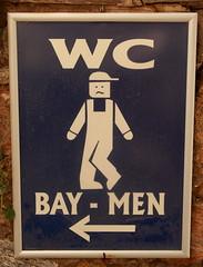 Sign for the Men's WC at Meryemana, Turkey