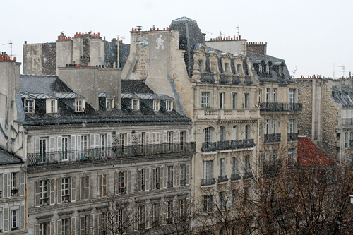 first snow in paris