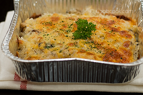 Chicken and Mushroom Baked Rice