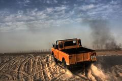 LAND ROVER Series 3 (Talal Al-Mtn) Tags: yellow rover land kuwait landrover defender q8 bnaider   talalalmtn
