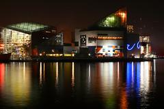 Baltimore Aquarium (_Brian_Taylor_) Tags: sunset night lights aquarium harbor md maryland baltimore submarine inner innerharbor