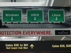 Windows Unix Linux: Veritas ad in airport