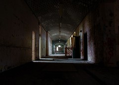 St Johns Asylum - Dark Corridor (ricklus) Tags: county uk urban abandoned st hospital lens nikon zoom decay lincolnshire f bracebridge heath mm 1855mm nikkor 18 55 exploration lunatic asylum johns decayed decaying dx urbex pauper mids f3556 d40 zoomnikkor urbexing ricklus bbcheadroom midsurbexing soundsmental