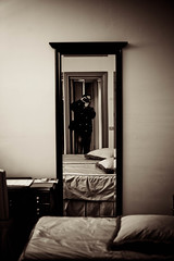 in a hotel for one night (Fotis ...) Tags: me vintage hotel mirror florence room pillow firenze onenight