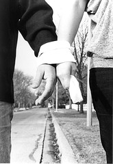 toilet paper 1 (Kamila Gornia) Tags: street bw woman man paper hands toilet together harmony link bond keep always forever dominance connection stay