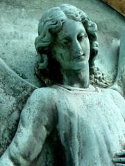 Angel (campra) Tags: paris france grave statue angel bronze memorial cemetary tomb pèrelachaiseparis