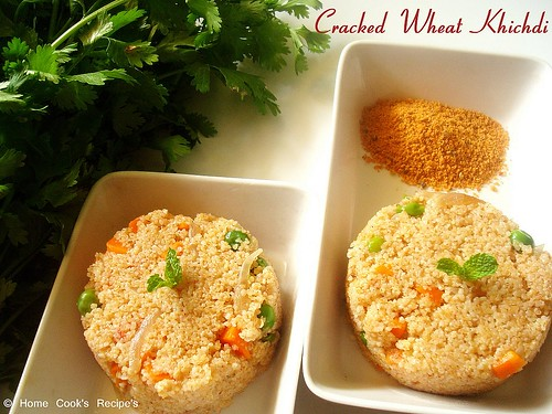 Cracked Wheat Upma / Khichdi