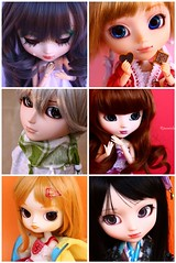 My dolly family was tagged (Rinoninha) Tags: doll allen mosaic dal mosaico tagged pullip ichigo mueca ilea taeyang nanaly dollfamily neliel momohime familiamuequil