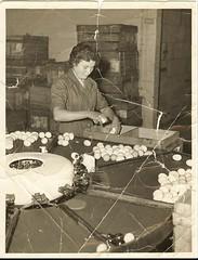 JUNE MUSGROVE (nee COX) AT work at STAMFORD EGG DEPOT