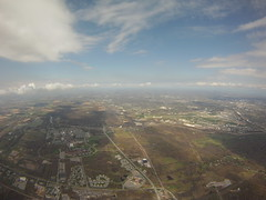 The RIT campus on the left and Rochester International Airport on the right.