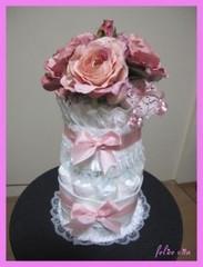 オムツケーキ ピンク