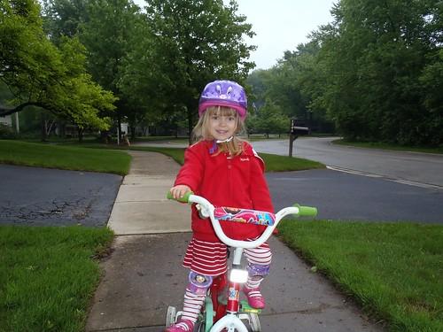 Vivianne on her bike