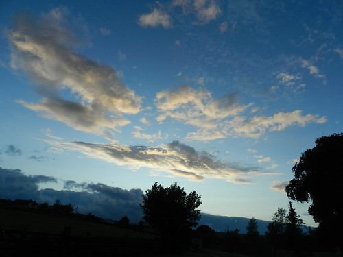 Evening sky over Newtownmountkennedy