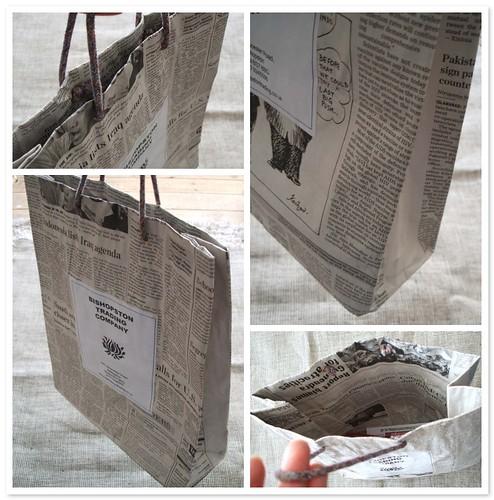 Bishopston Trading recycled paper bag