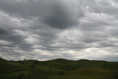 The road from Fes to Volubilis (R. O. Flinn) Tags: sky clouds landscape hills atlasmountains morocco fes volubilis