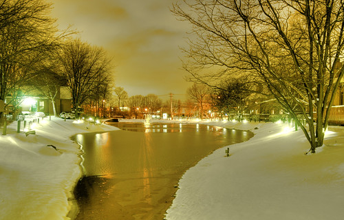 Pond at Night