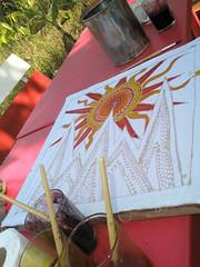 Batik #2 - Half finished