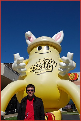 pete at jelly belly headquarters