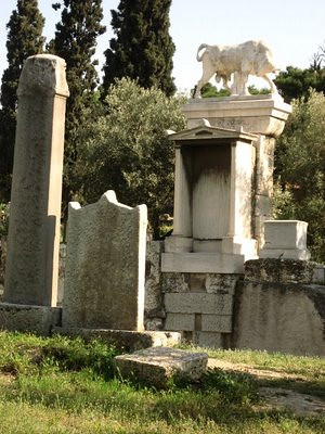 Paseo de las tumbas, Cerámico, Atenas, Grecia