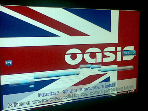 Oasis - Champagne Supernova karaoke ! The Union Jack .. So cool! © conkrd