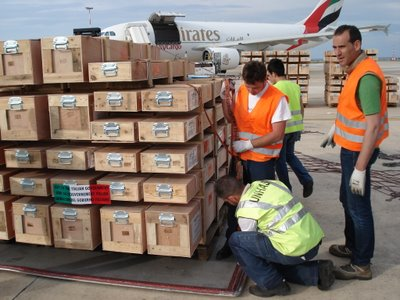 Humanitarian airlift from Brindisi UNHRD to China Earthquake zone