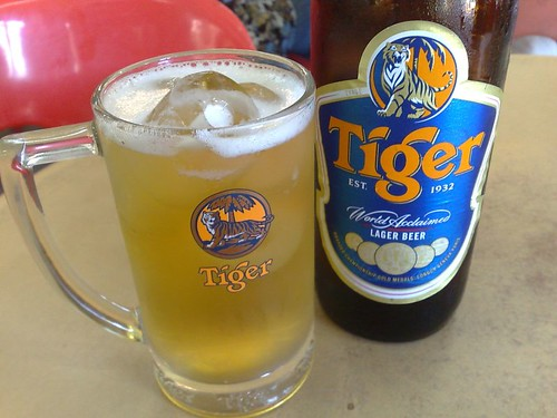 Tiger beer on ice