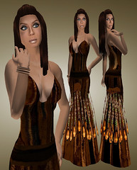 SYSY\'s chocolatte gown