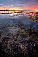 Þegar sólin kyssti mig (oskarpall) Tags: ocean sunset red sea sky sun beach water canon eos iceland sand stones 5d 1740 ísland sjór steinar rautt páll vatn sól himinn haf strönd coulors óskar sandur litir sólsetur elfarsson