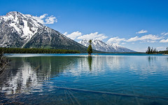 Teton Reflections (konaboy) Tags: lake snow reflection wyoming jacksonhole grandtetonnationalpark stringlake 8354