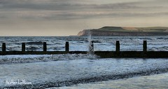 splash (Flamelillyfox) Tags: sea cliff shore splash redcar groynes huntcliff boulby kettleness