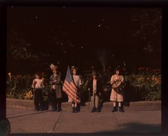Children in costumes with flags at Jones Park (George Eastman House) Tags: park flowers costumes children drum feathers americanflag patriotic flags sprinkler usflag georgeeastmanhouse autochrome photo:process=colorplatescreenautochromeprocess charlesczoller color:rgb_avg=2f1a14 charleszoller geh:accession=198220540043