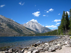 Grand Tetons National Park, Wyoming (Eve'sNature) Tags: camping vacation lake mountains beach nature water clouds forest landscape outdoors rocks waves natural jenny tetons nationalparks jennylake the4elements photocontesttnc12