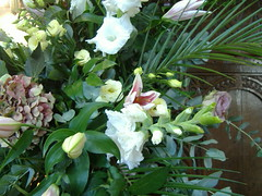 Esther & David wedding (crunklygill) Tags: flowers wedding friends white green church price creativity brandon july marriage christian celebration lilies oxford stnicholas marston oldmarston estherdavid estherdavidswedding marstonelsfield tonyalison