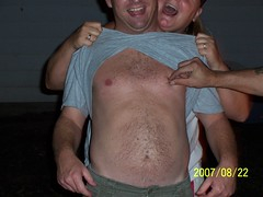 Greg's 39th Bday party 012 (imahoosier) Tags: birthday summer silly hair nipples smiles celebration nights pinch