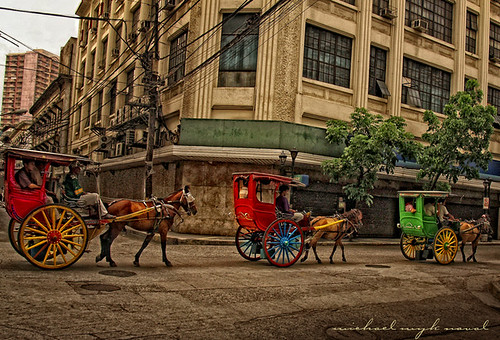 Manila calesa Kalesa horse drawn cart Pinoy Filipino Pilipino Buhay  people pictures photos life Philippinen  菲律宾  菲律賓  필리핀(공화국) Philippines
