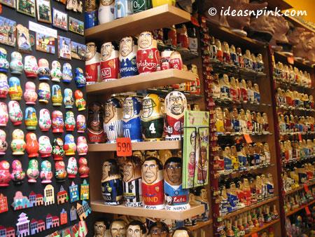 Souvenir shops at the Old Town, Prague