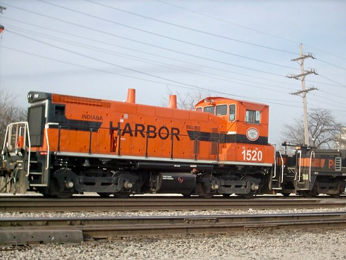 Indiana Harbor Belt RR orange EMD switcher. Argo Yard. Summit Illinois. March 2007. by Eddie from Chicago