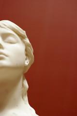 Half face sculpture