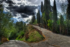 Choose your path... (Jano De Cesare) Tags: road nature colors landscape countryside moody path magic fantasy tuscany toscana hdr mystic valdarno sfidephotoamatori