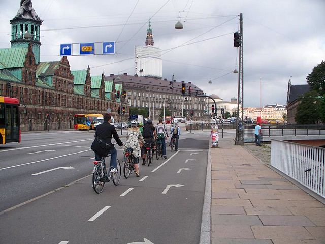 Copenhagen - Bike Lane Backs Up