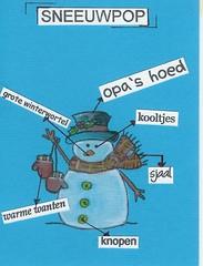 Ingredientenlijst voor sneeuwpop (Stempeldoos) Tags: sneeuwpoppen