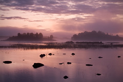 Dawn Mist over Loch Ba (David Kendal) Tags: mist fog sunrise landscape dawn scotland scottish peaceful tranquility calm nd loch rannochmoor lochan murk lochba a82 davidkendal