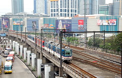 MRT passing SM Megamall towards Shaw Boulevard Station