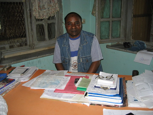 Major Abdoul in his office