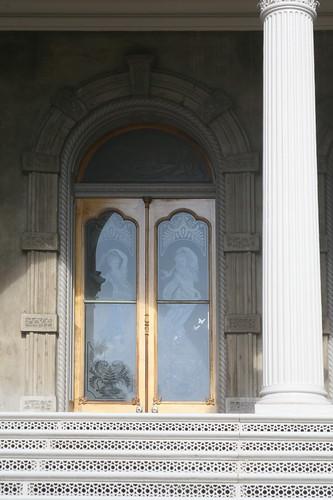 Sheet crystal door panel