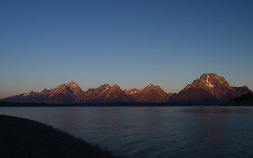 grand tetons by dawn