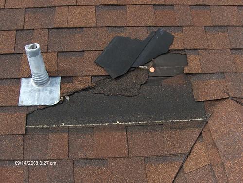 worst roof damage
