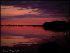 Back to the lake (Kirsten M Lentoft) Tags: sunset sky lake reflection water clouds denmark silhouettes firstquality arresø colorphotoaward infinestyle kirstenmlentoft buonanottekirsten