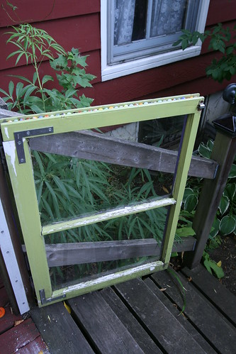 Recycled window garden gate